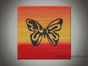 Allah kupu-kupu Handpainting